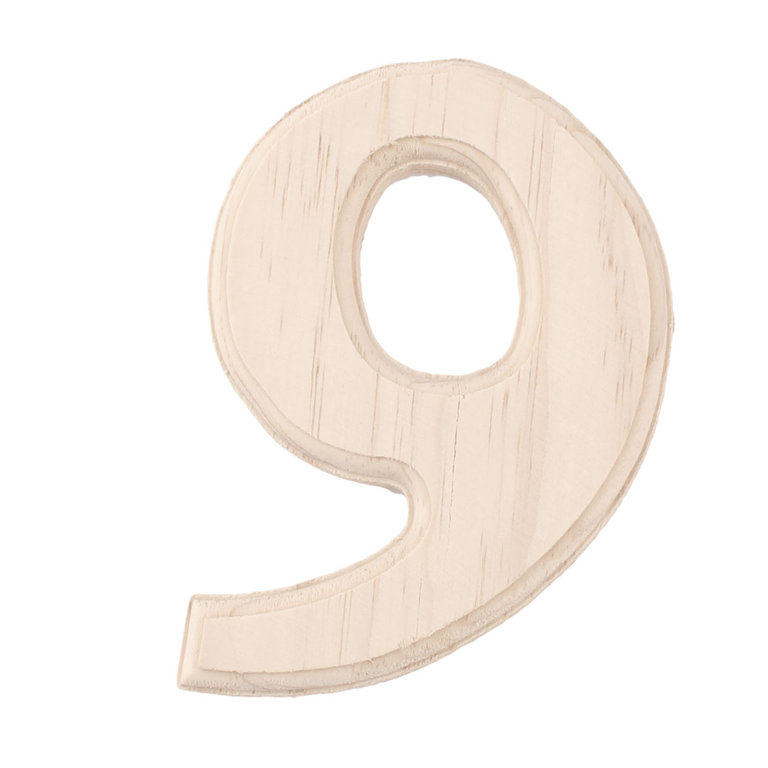 Wedding Birthday Party Wooden Decoration Number 9 Free DIY Table Wall Wood Color