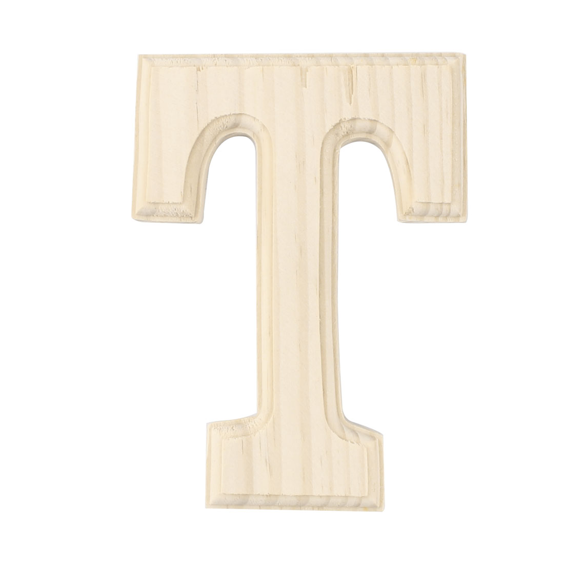 Home Bedroom Wooden Decoration English T Letter Alphabet Word Free DIY Wall Wood Color
