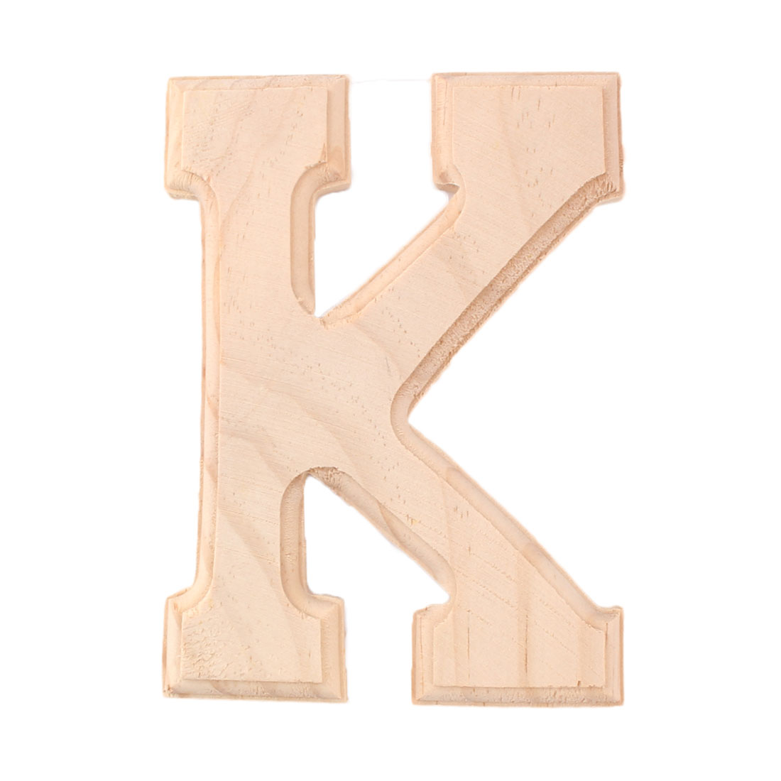 Household Wooden Decoration English K Letter Alphabet Word Free DIY Wall Wood Color