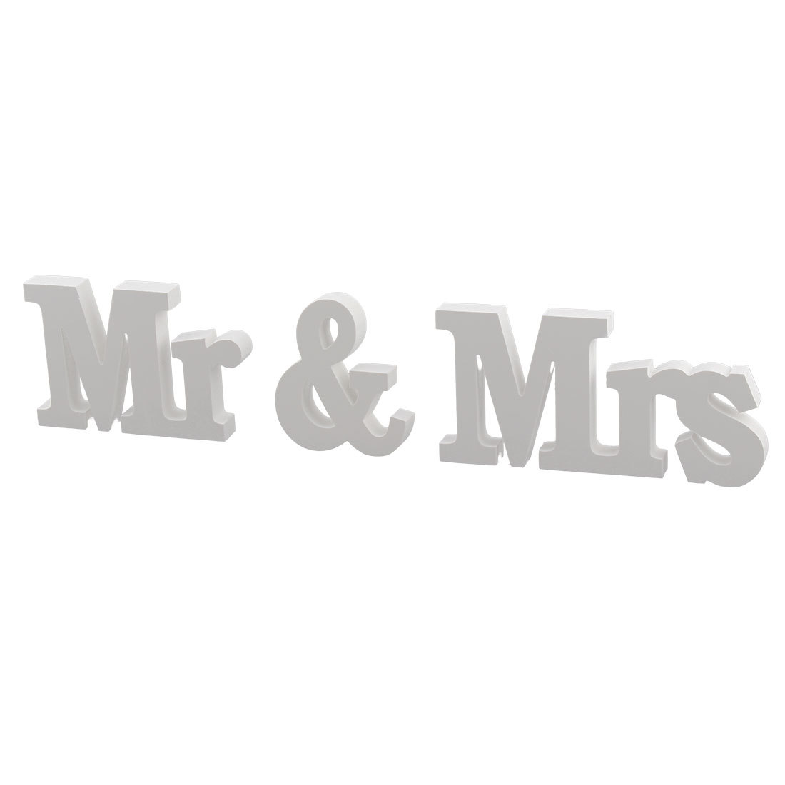 Wedding Decoration Plywood Mr and Mrs Letters Word DIY Wall White 3 in 1