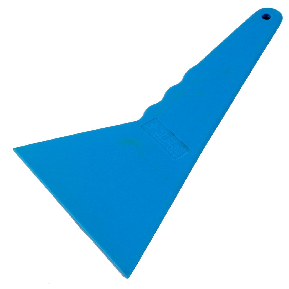 Car Auto Window Film Wrap Cleaning Scraper Tinting Tool Blue 20.8 x 12 x 0.5cm