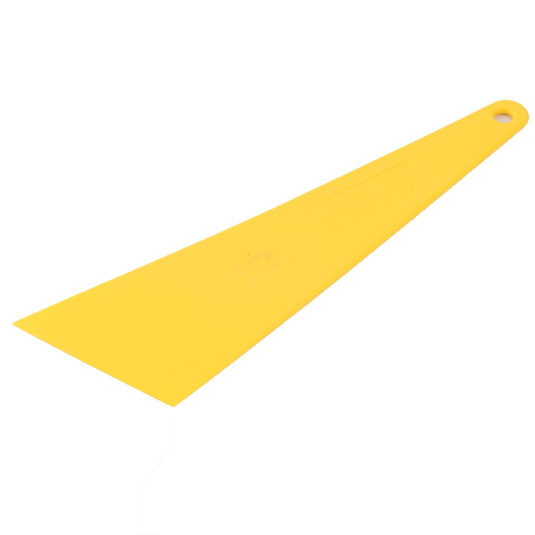 Car Window Film Wrap Tint Triangle Shape Cleaning Scraper Tinting Tool Yellow 28.5 x 8.4 x 0.5cm