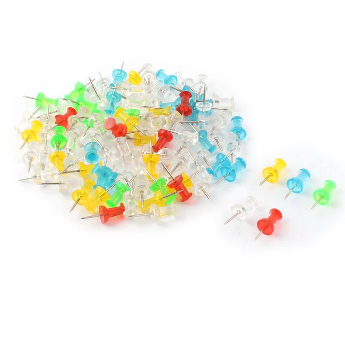 Office Corkboard Paper Sheet Memo Push Pin Map Tack Assorted Color 100pcs
