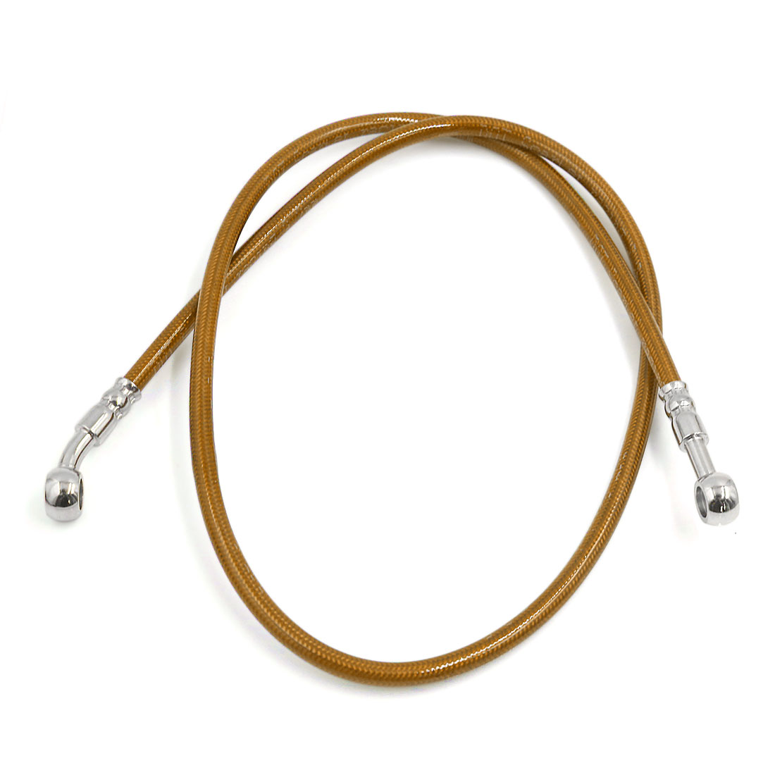 Universal 100cm Yellow Stainless Steel Rubber Brake Oil Hose Line for Motorcycle