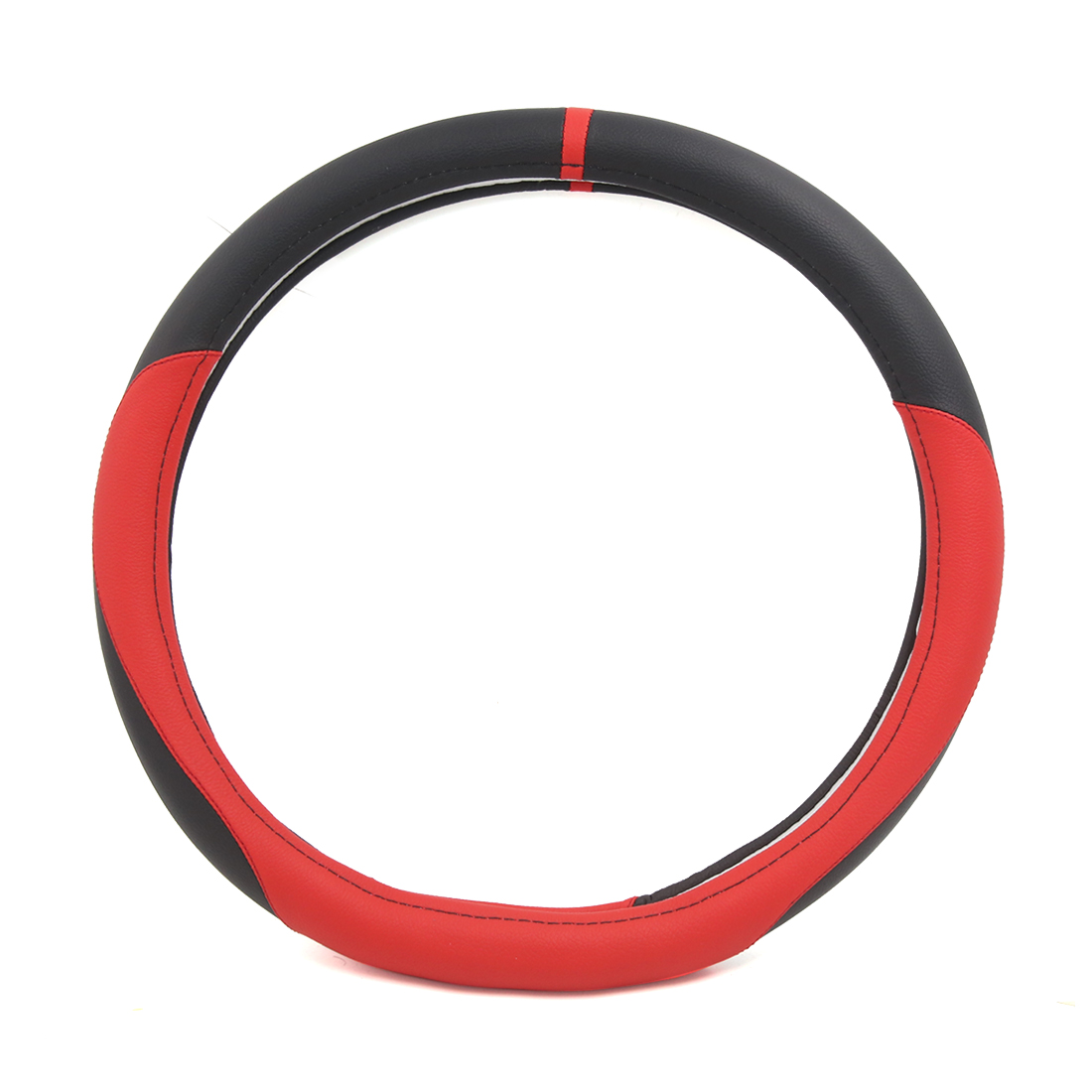 15inch Black Red D Shaped Nonslip Cover Protector for Truck Car Steering Wheel