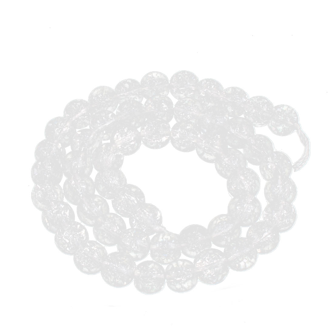 Lady Plastic Handmake Beads Necklace Jewelry Glitter White 8mm Dia
