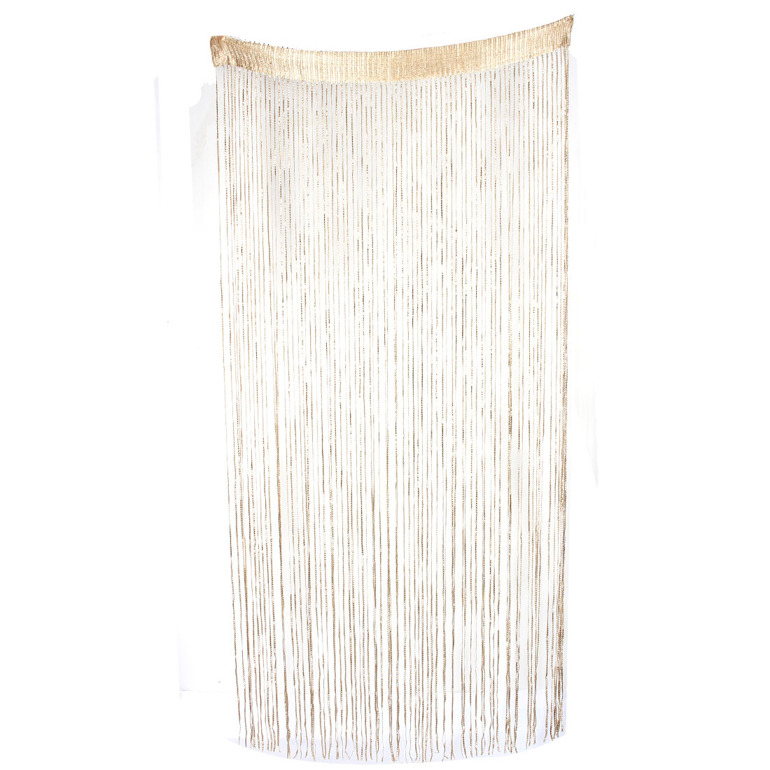 Household Restaurant Sparkling Straight Line Tassel Divider Decoration String Curtain Beige