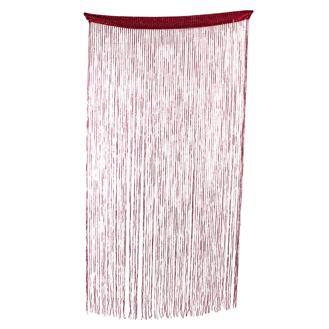 Household Door Restaurant Sparkling Straight Line Tassel Divider String Curtain Red