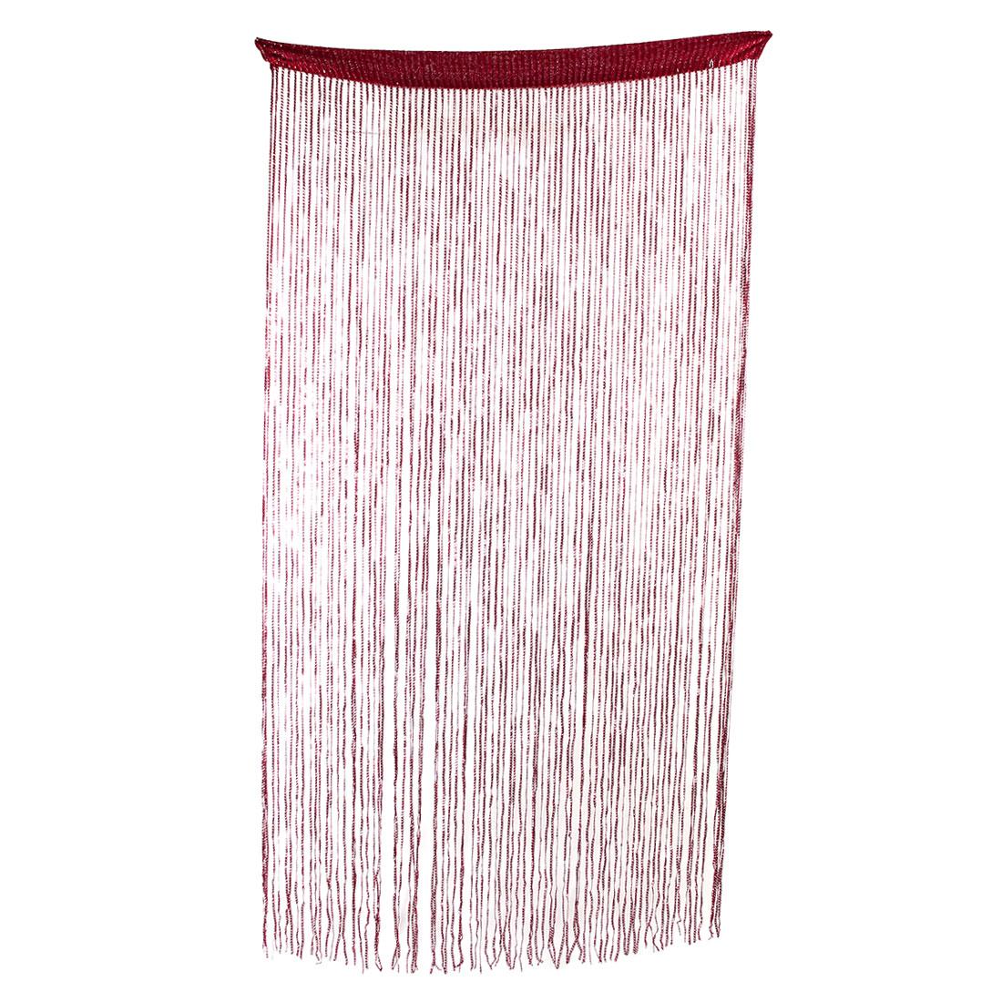 Household Door Restaurant Sparkling Straight Line Tassel Divider String Curtain Red