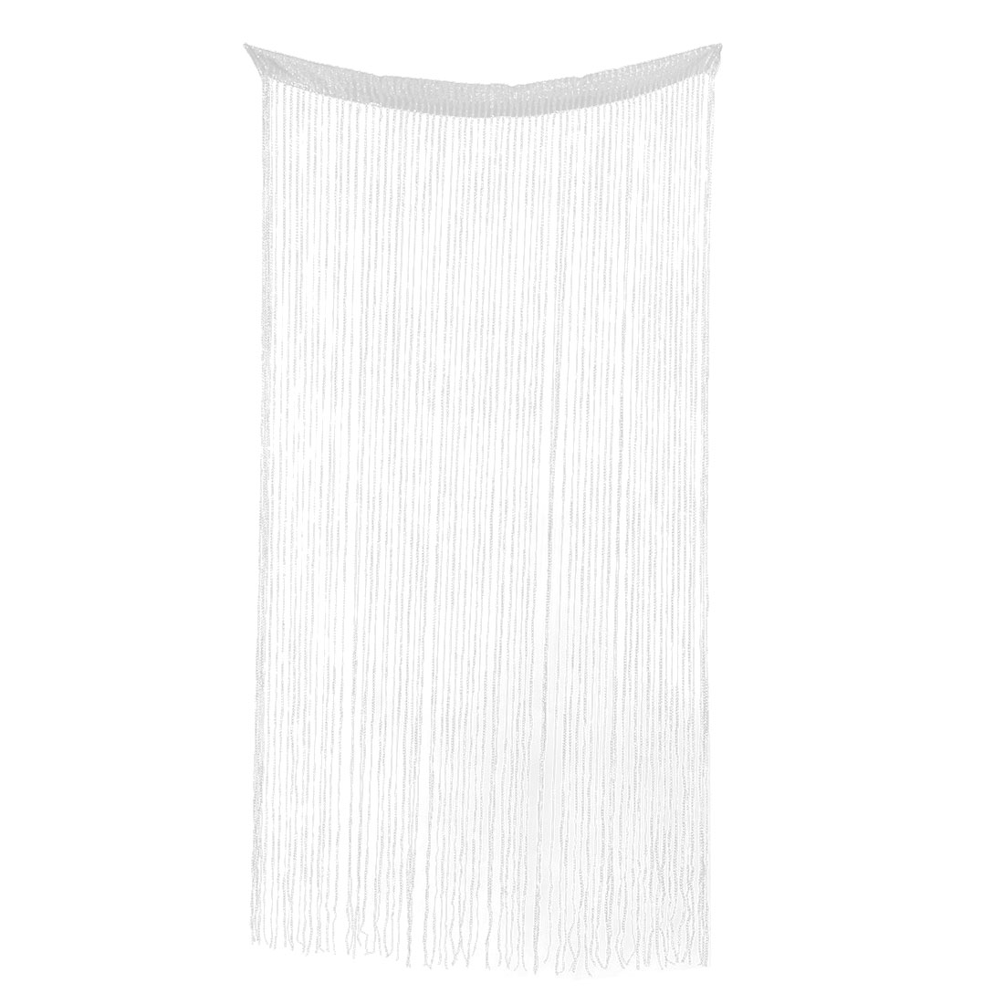 Door Restaurant Sparkling Straight Line Tassel Divider Decoration String Curtain White