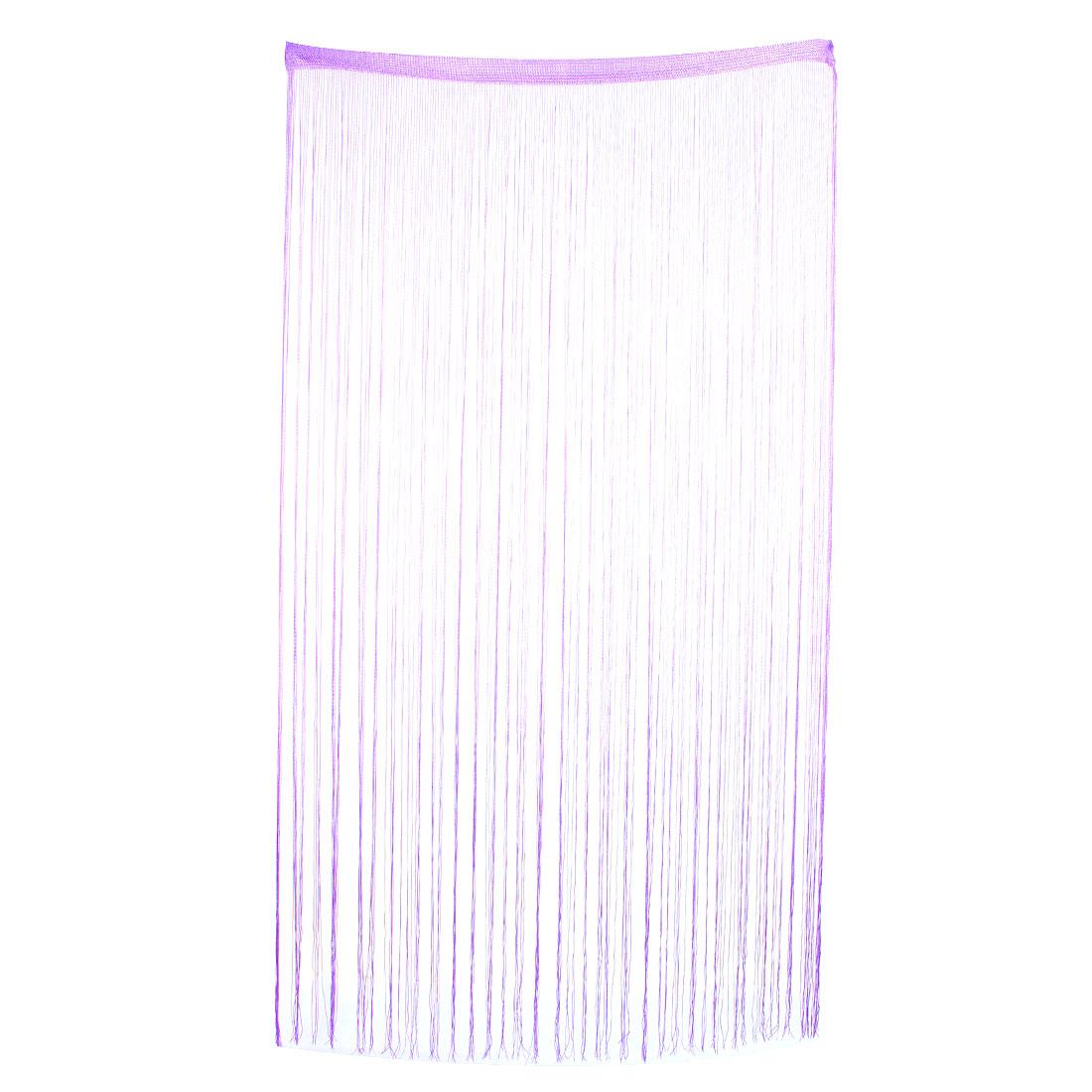 Door Window Straight Line Strip Tassel Divider Decoration String Curtain Light Purple