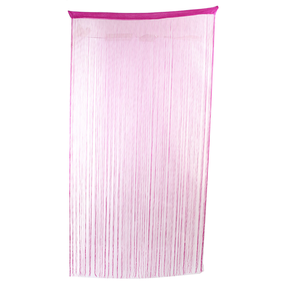 Household Window Straight Line Tassel Panel Divider Decoration String Curtain Fuchsia