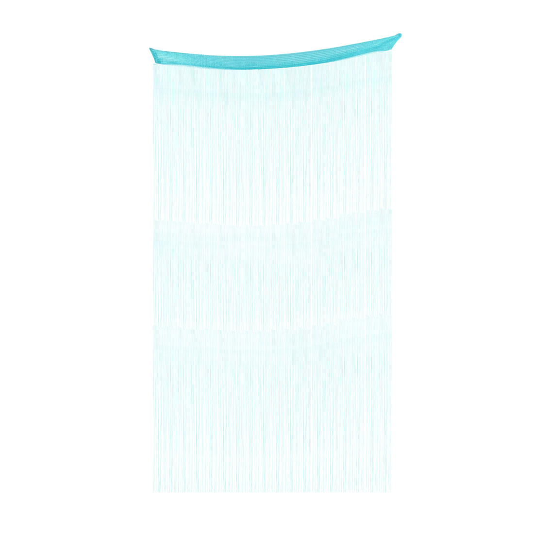 Household Door Window Straight Line Tassel Panel Decoration String Curtain Cyan