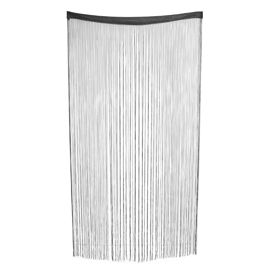 Window Straight Line Tassel Divider Decoration String Curtain Black