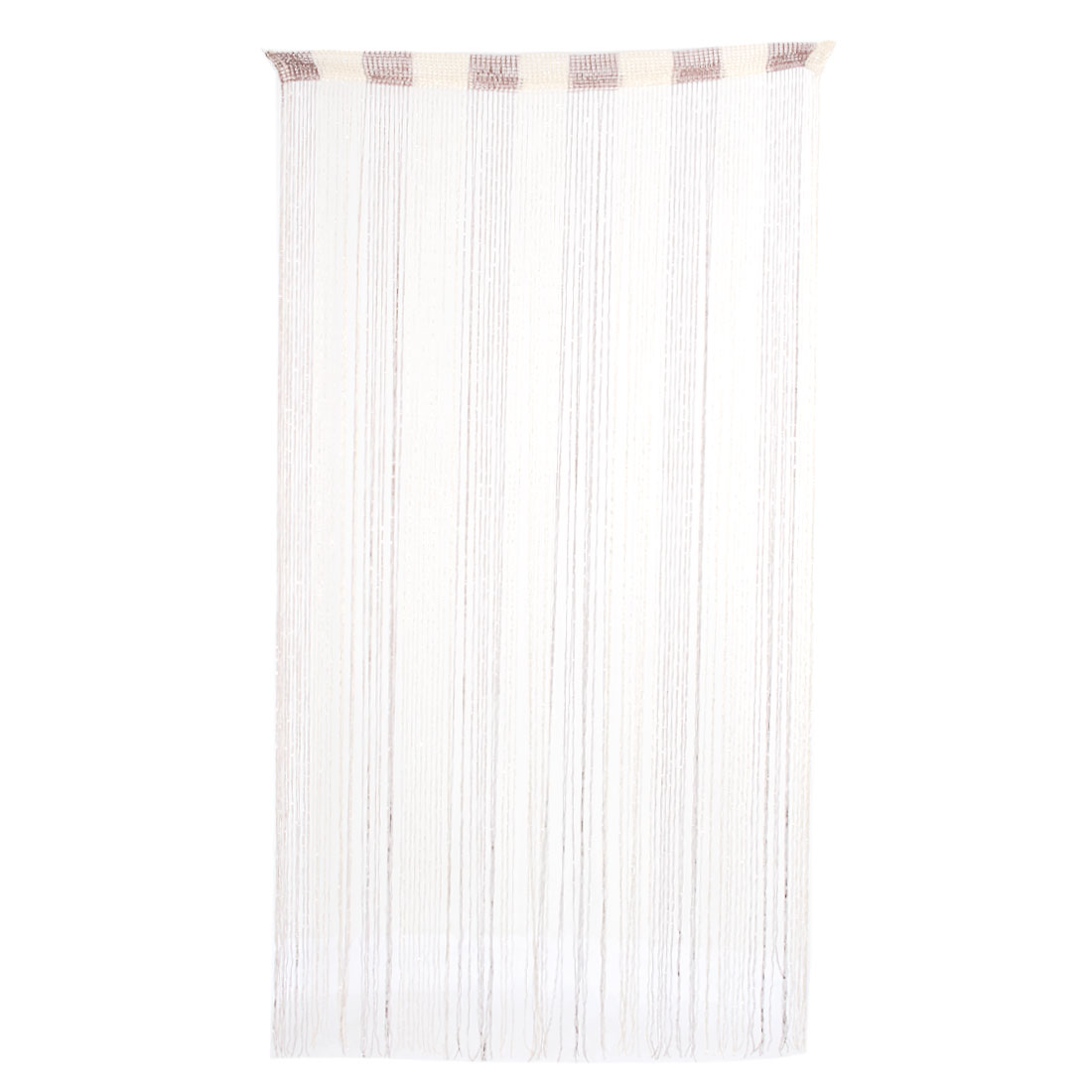 Household Door Sparkling Ribbon Flat Strip Tassel Screen Decoration String Curtain Brown
