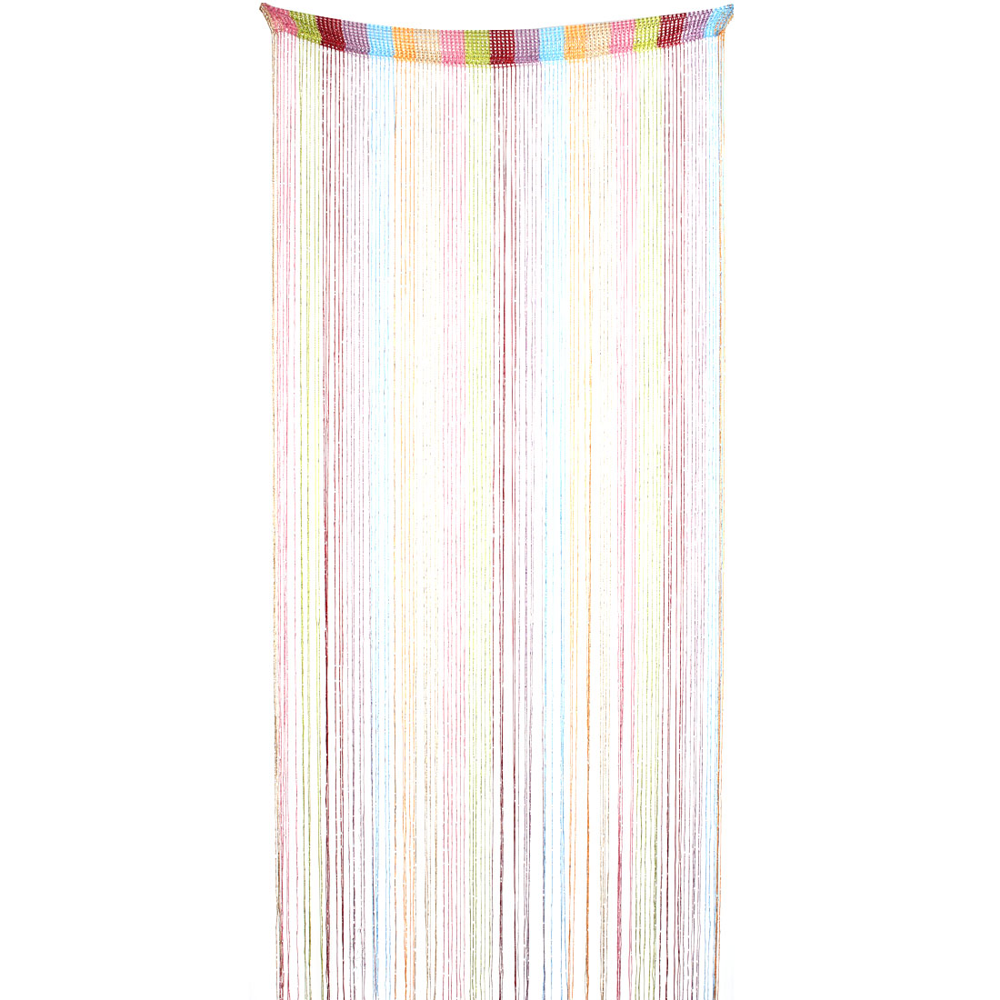 Household Restaurant Ribbon Tassel Screen Divider Decoration String Curtain Multicolor