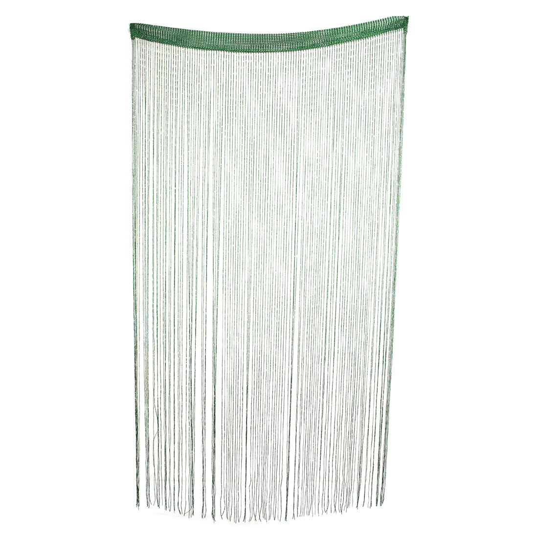 Home Door Window Sparkling Ribbon Flat Strip Tassel Screen String Curtain Green