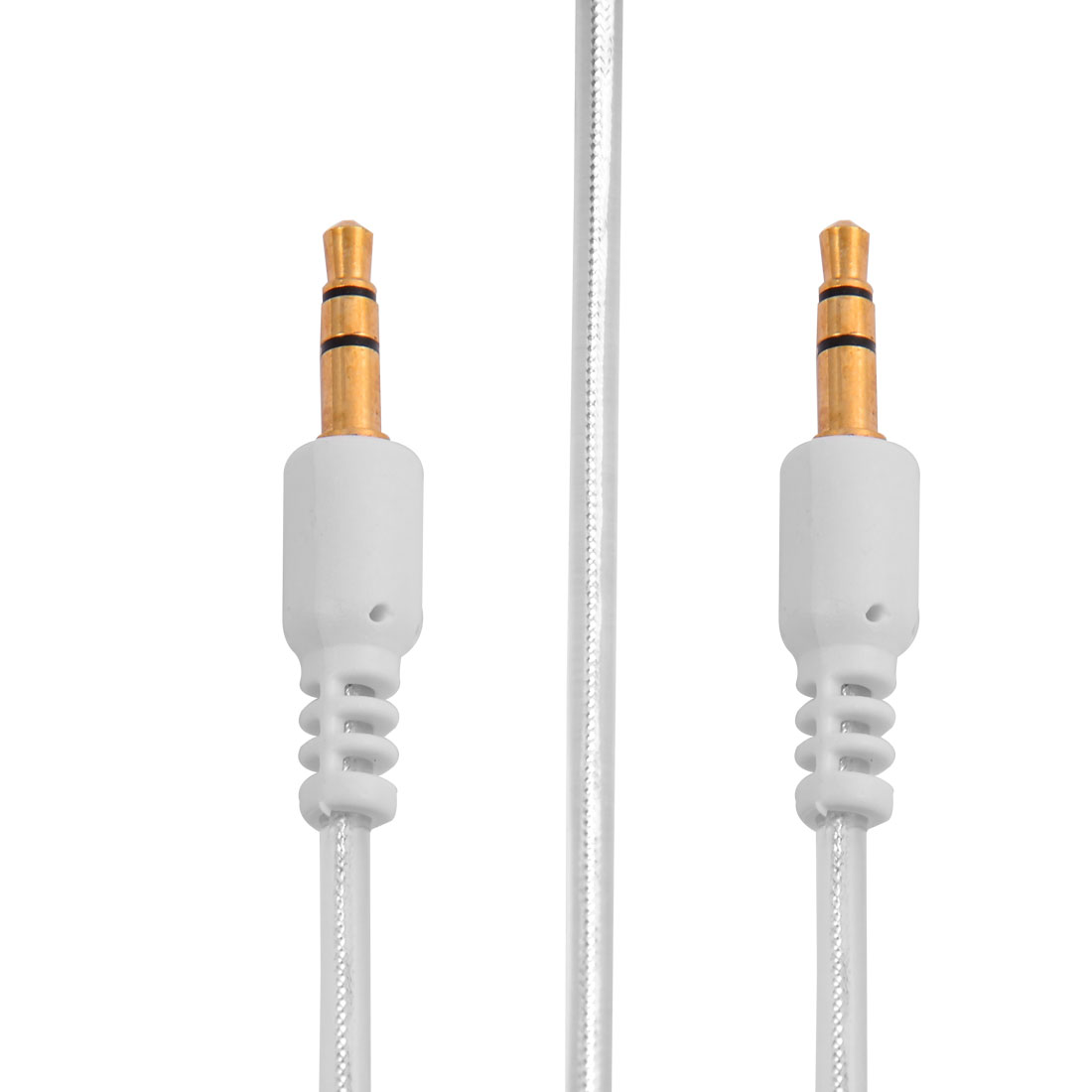 3.5mm Male to Male Audio Auxiliary Extension Cable White 1M Long for PC Smartphones