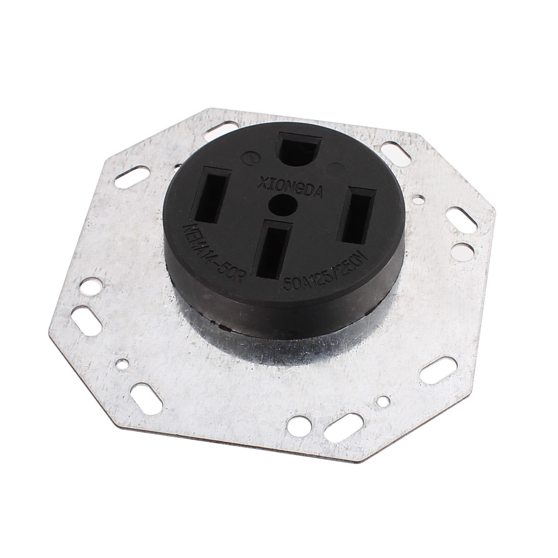 125/250V 50A 4 US Socket Bagua Shaped Panel Flush Mounting Receptacle Grounding