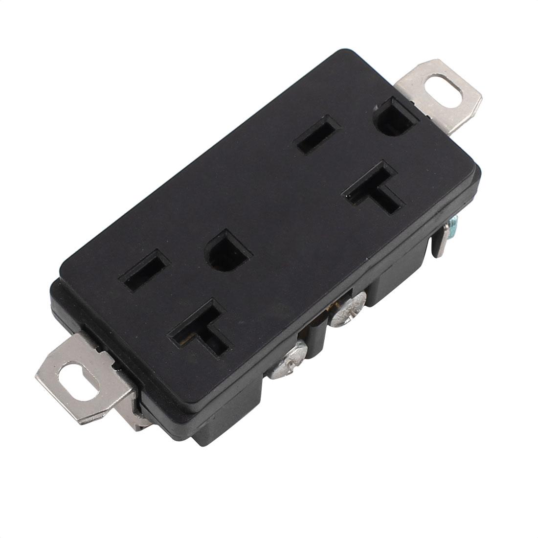 125V 20A US Twist Lock Tamper-Resistant Duplex Receptacle Power Outlet