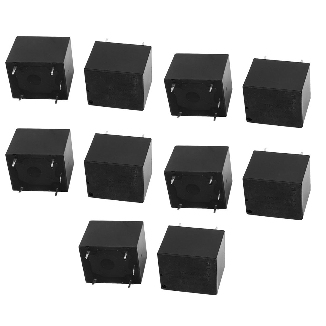 5Pcs JQC-3FF-S-Z DC12V 10A 0.36W 5 Terminal SPDT NO Mini Changeover Power Coil Relay