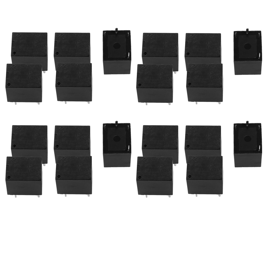 20Pcs DC12V 10A 5 Terminal SPDT NO Mini Changeover Power Relay
