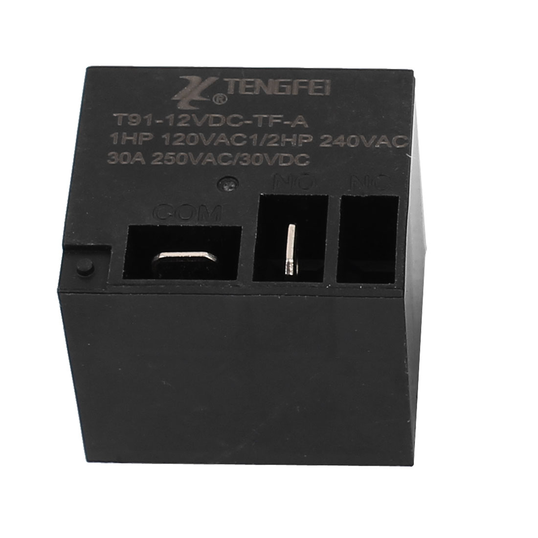T91 DC12V 30A 4 Terminal SPST NO Miniature Power Coil Electromagnetic Relay