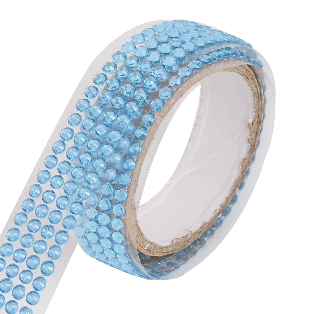 Rhinestone Decoration Sticker Scrapbook DIY Craft Decorative Sticky Tape Roll Blue
