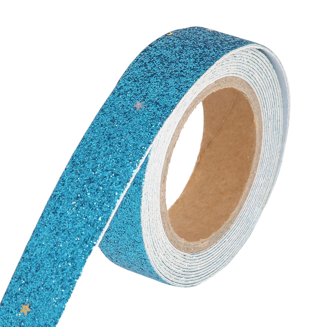 Glitter Self Adhesive Decorative DIY Crafting Sticky Paper Tape Sticker Blue