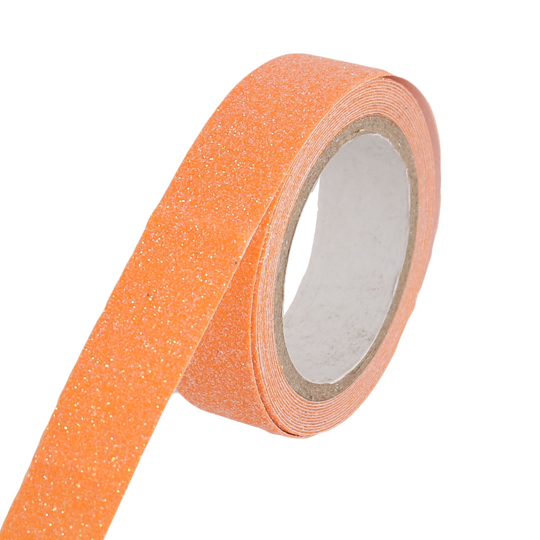 Glitter Decorative DIY Scrapbook Crafting Sticky Paper Washi Tape Sticker Orange