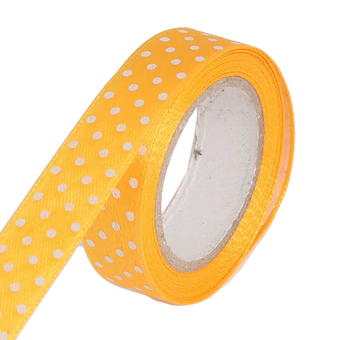 Dots Pattern Crafting Scrapbooking Decorative Sticky Masking Tape Roll Yellow