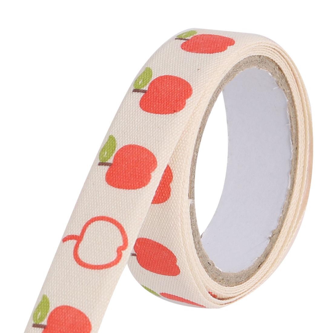 Apple Pattern DIY Scrapbooking Decorative Sticky Tape Stationary Sticker Roll