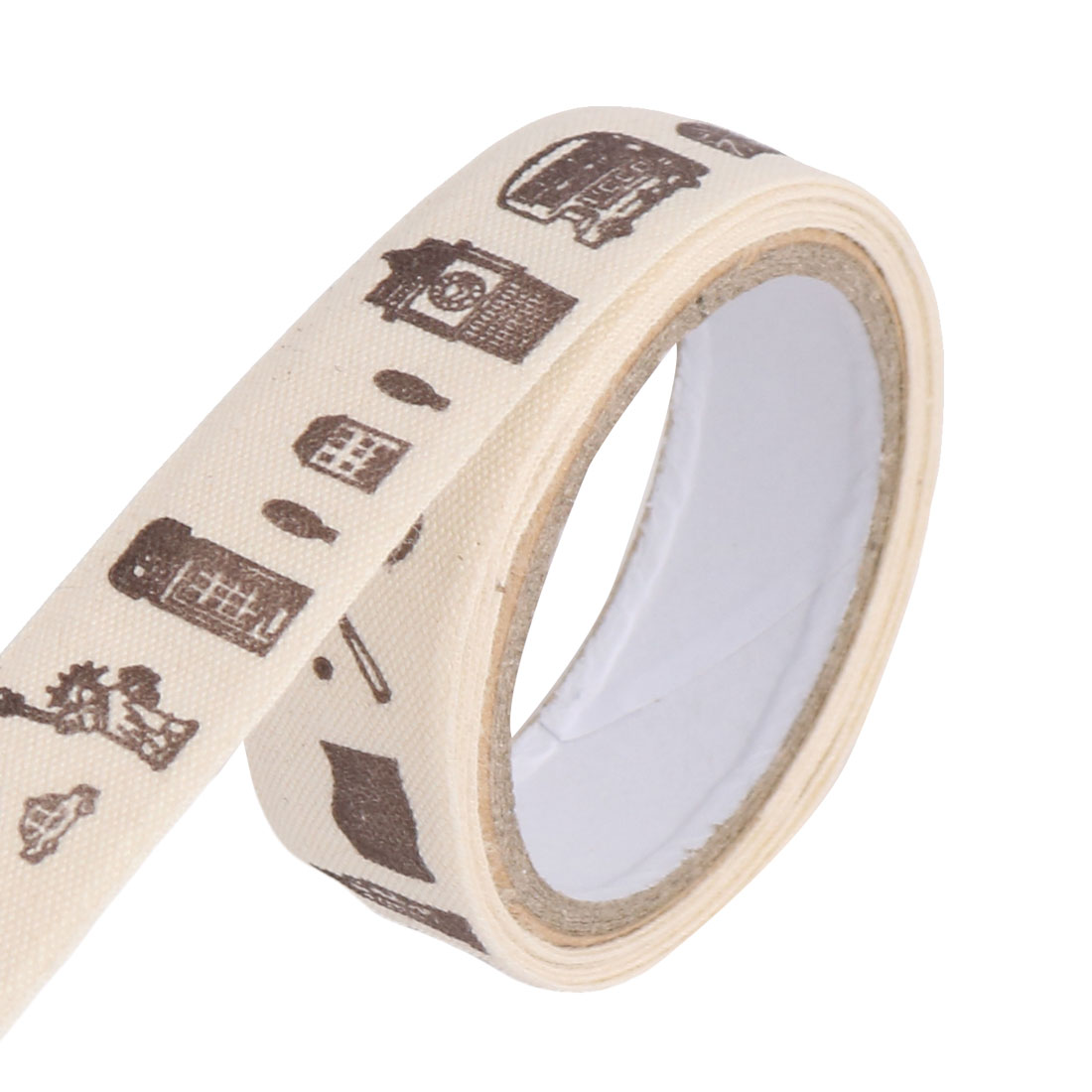 Eiffel Tower Pattern DIY Scrapbooking Decorative Sticky Tape Stationary Sticker Roll Beige
