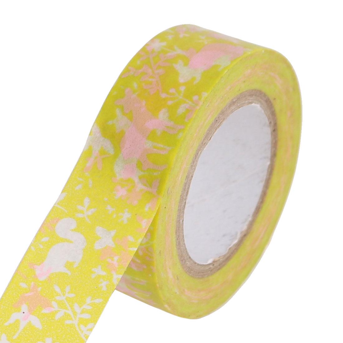 DIY Scrapbooking Craft Decorative Washi Masking Tape Roll Green Pink
