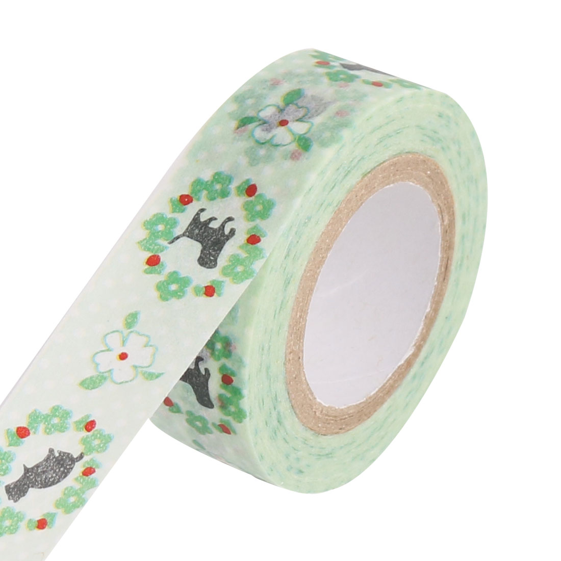 Floral Hoop Pattern Scrapbooling DIY Craft Decorative Washi Tape Roll