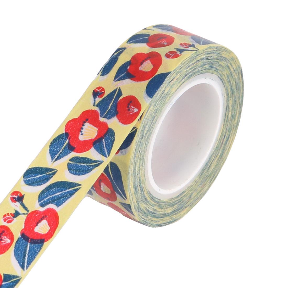 Flower Pattern DIY Craft Scrapbooking Decorative Washi Masking Tape Sticker Roll