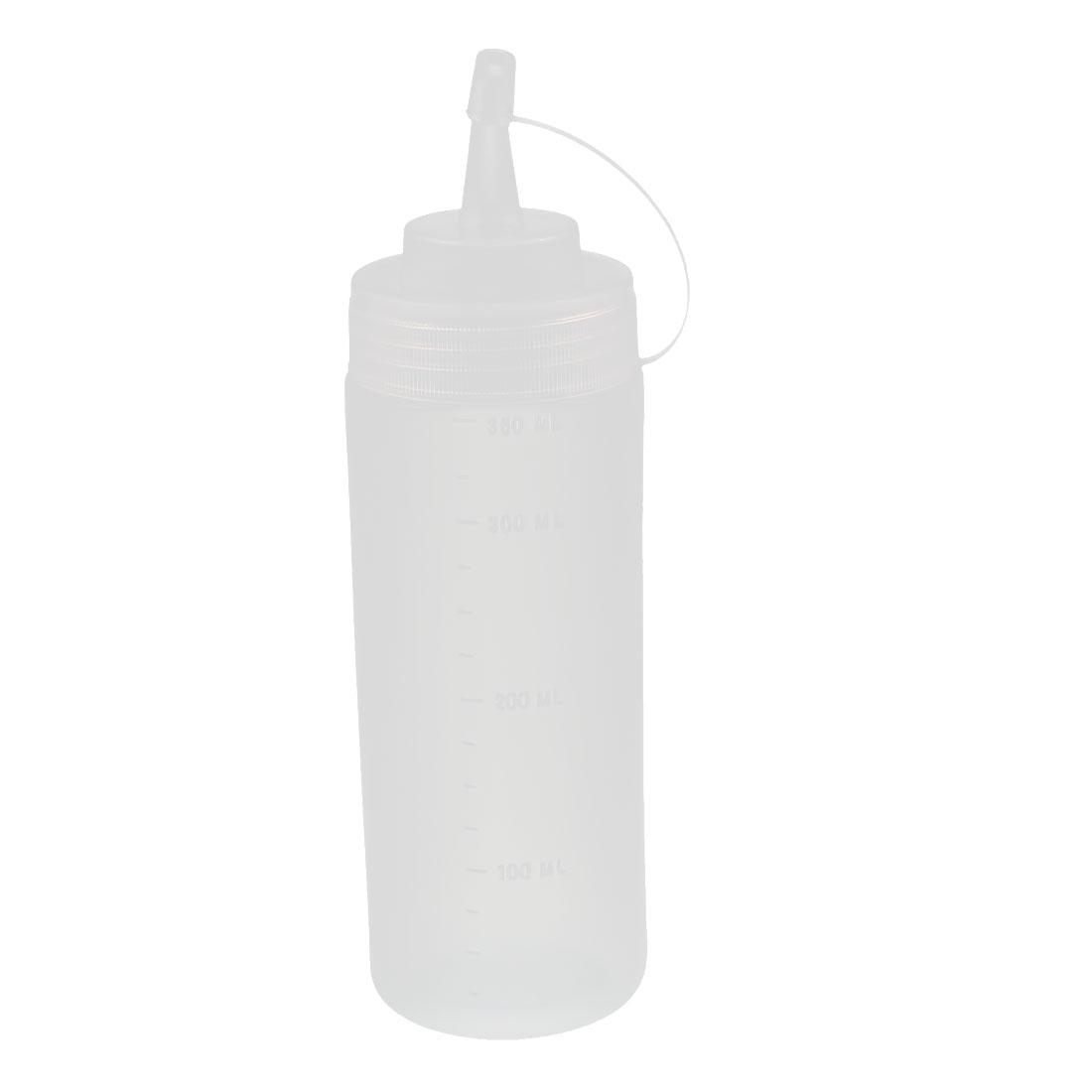 360ml 12oz Clear Plastic Food Squeeze Bottles Condiment Ketchup Mustard Oil Salt