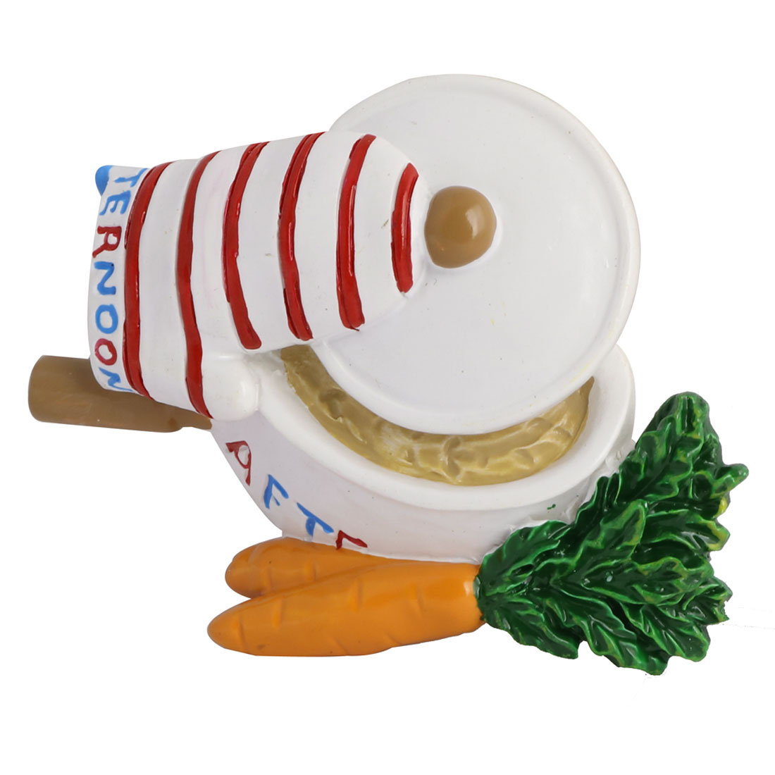 Kitchen Fridge Resin Simulation Vegetables Carrot Soup Pan Decorative Magnet Sticker