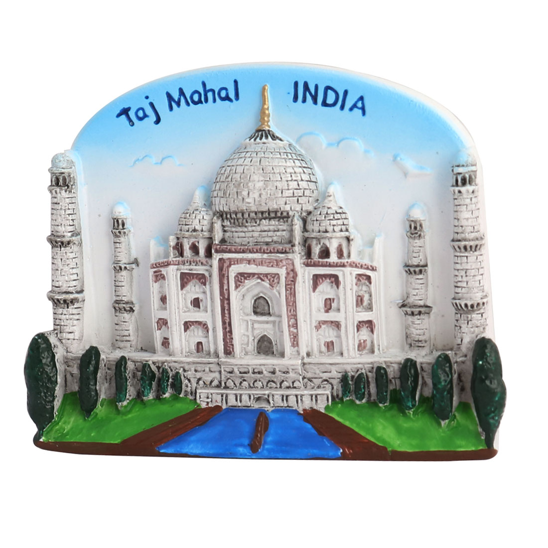 Household Kitchen Fridge Resin India Taj Mahal Scene Souvenir Decorative Magnet Sticker