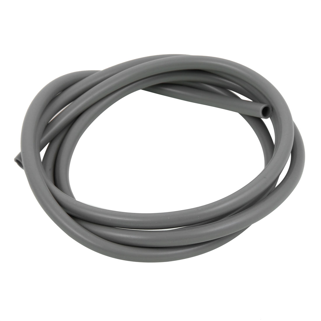 6mm x 8mm Gray Silicone Tube Water Air Pump Hose Pipe 2M Length
