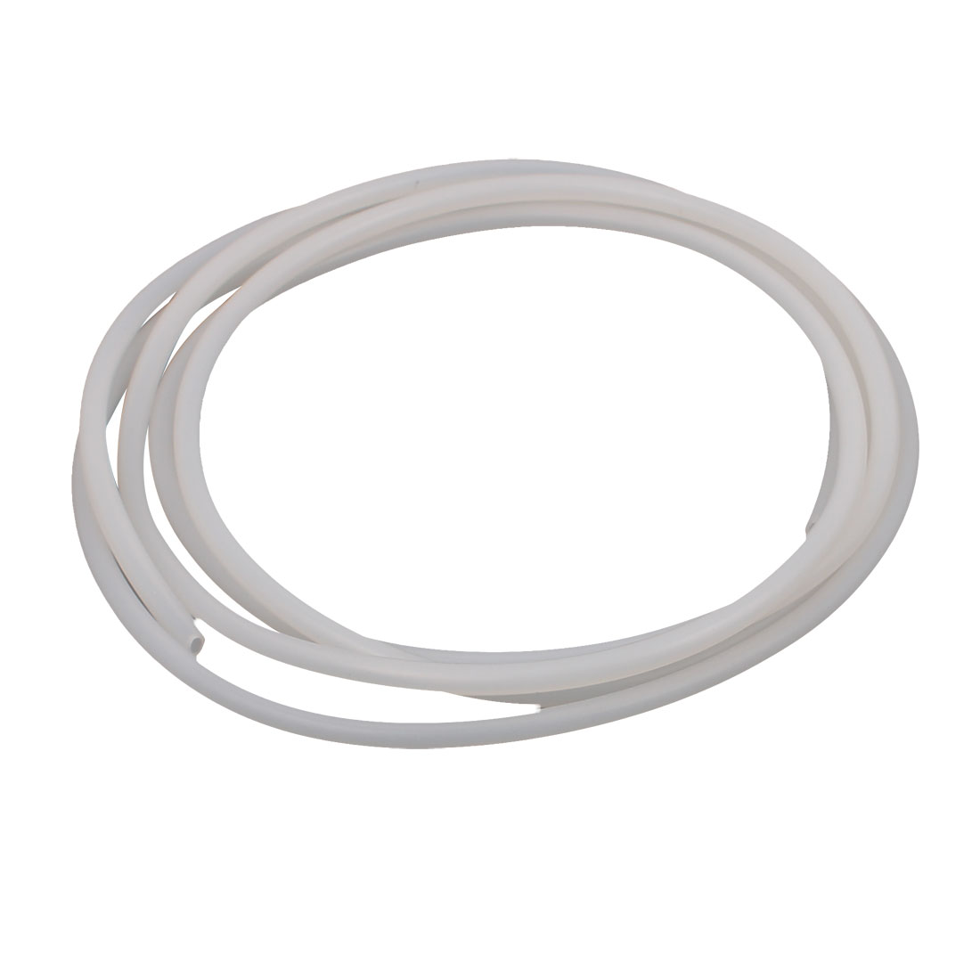 2.5mm x 5mm Beige Silicone Tube Water Air Pump Hose Pipe 2M Length