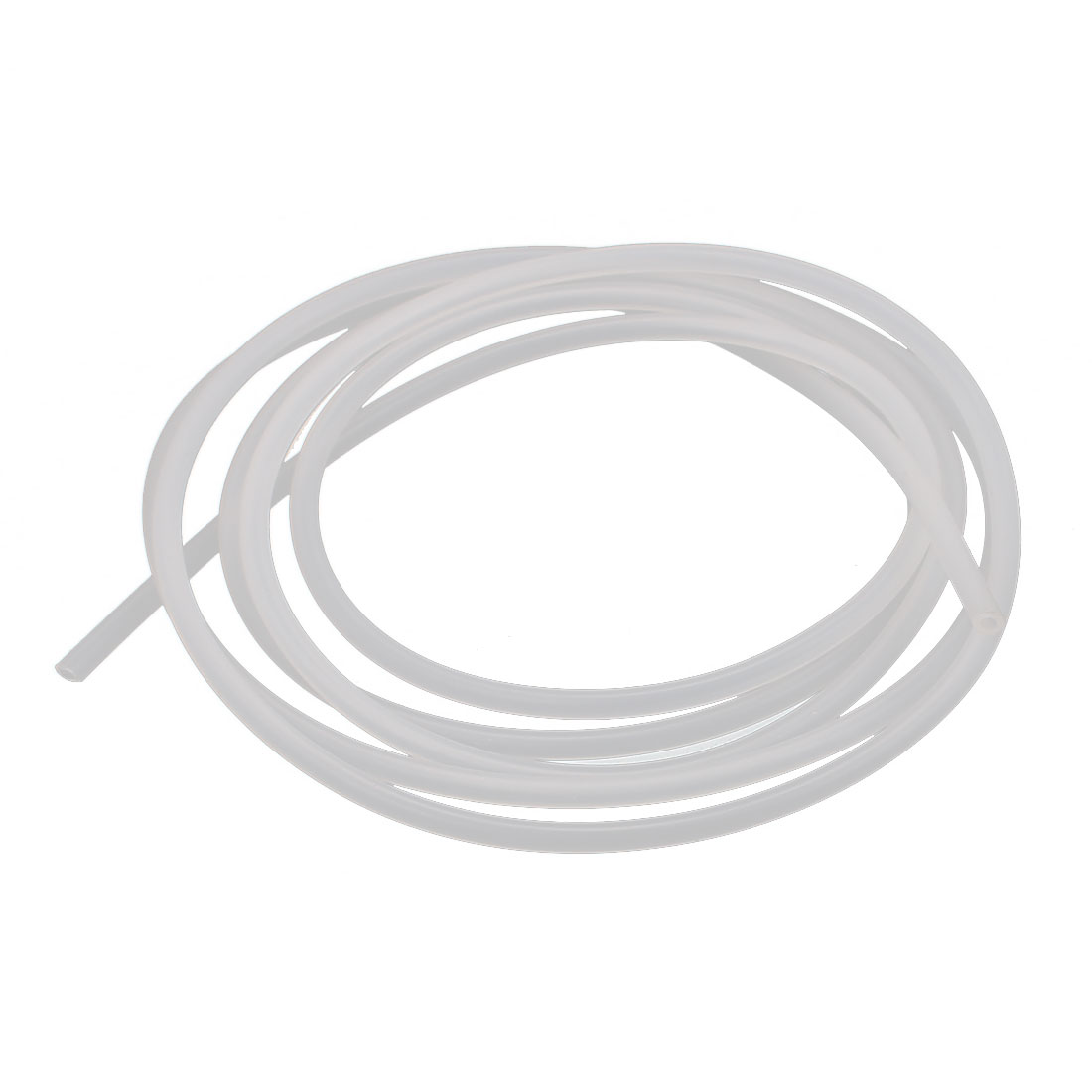 1mm x 2mm Beige Silicone Tube Water Air Pump Hose Pipe 1M Length