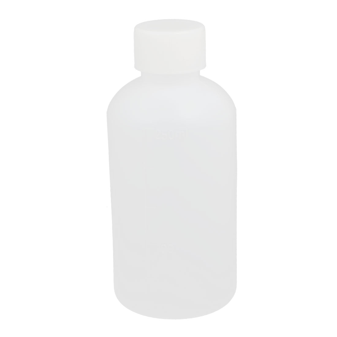 250ml Plastic Round Laboratory Reagent Bottle Liquid Thicken Bottle White