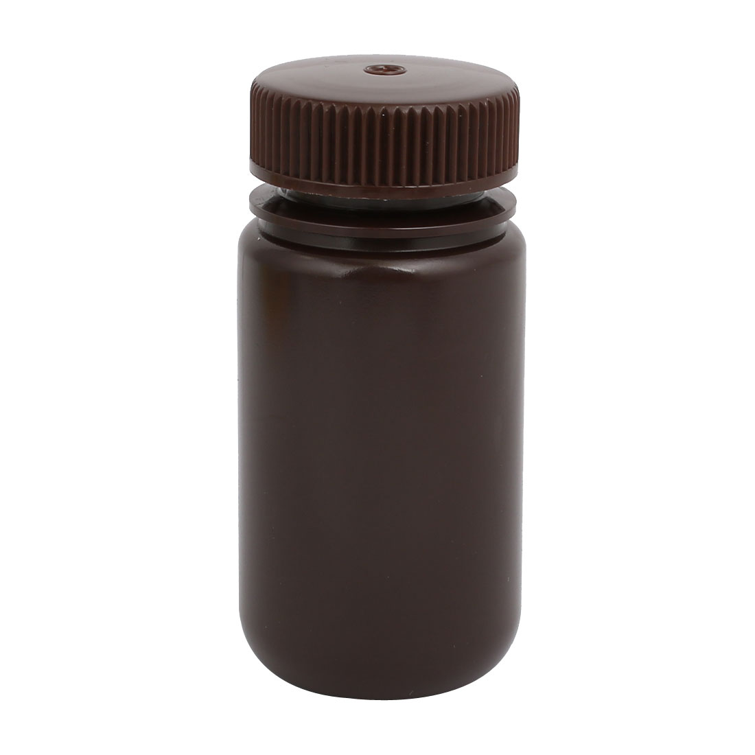 100ml 27mm Diameter HDPE Plastic Round Wide Mouth Laboratory Bottle Brown