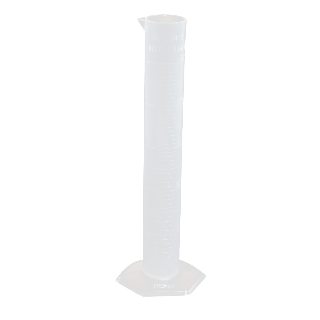 50mL Hex Base Liquid Measurement Plastic Graduated Measuring Cylinder Beaker