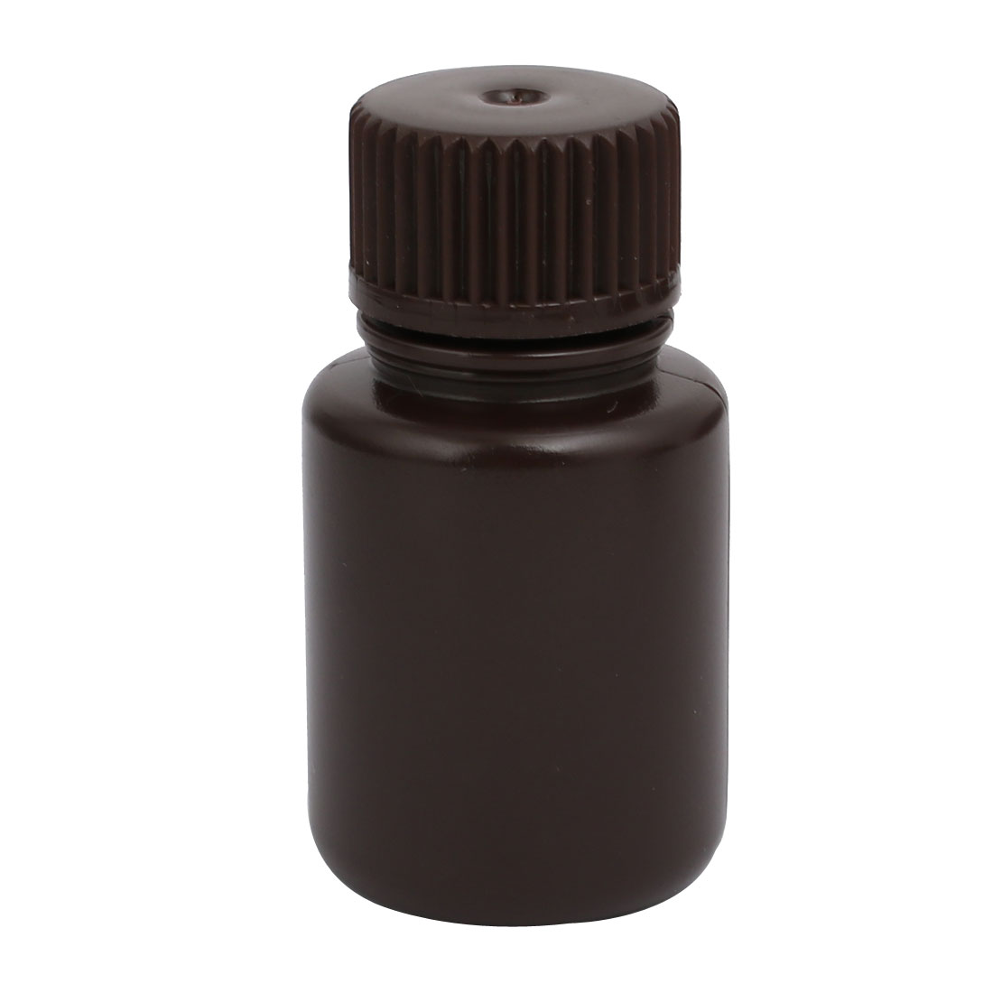 25ml Plastic Round Laboratory Reagent Bottle Sample Thicken Bottle Brown
