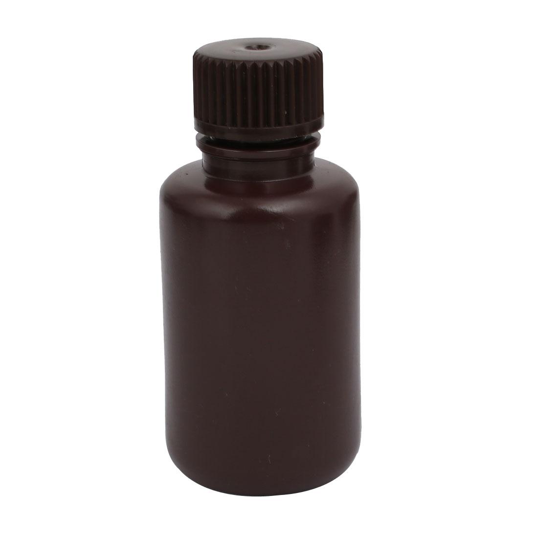 60ml Plastic Big Mouth Chemical Laboratory Reagent Bottle Sealling Bottle Brown