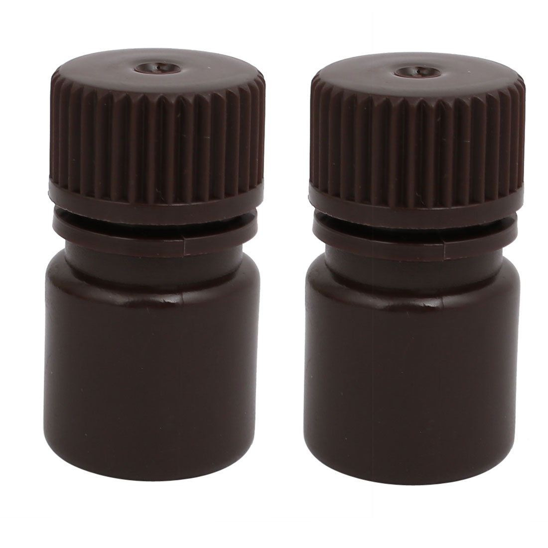 5ml 13mm Diameter HDPE Plastic Round Wide Mouth Laboratory Bottle Brown 2pcs