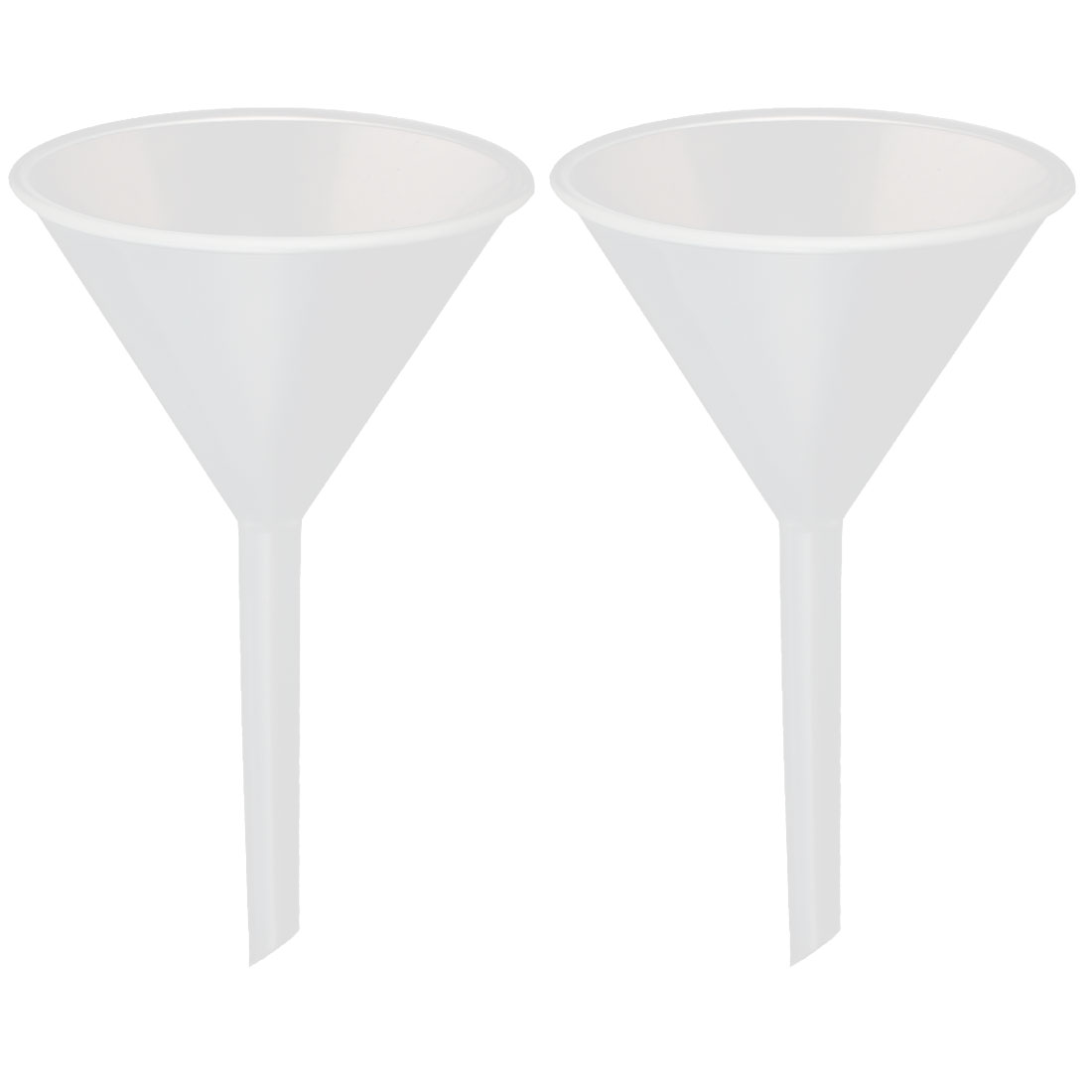 2pcs 55mm Mouth Dia Household Lab Water Oil Plastic Funnel Transfer Filling Tool