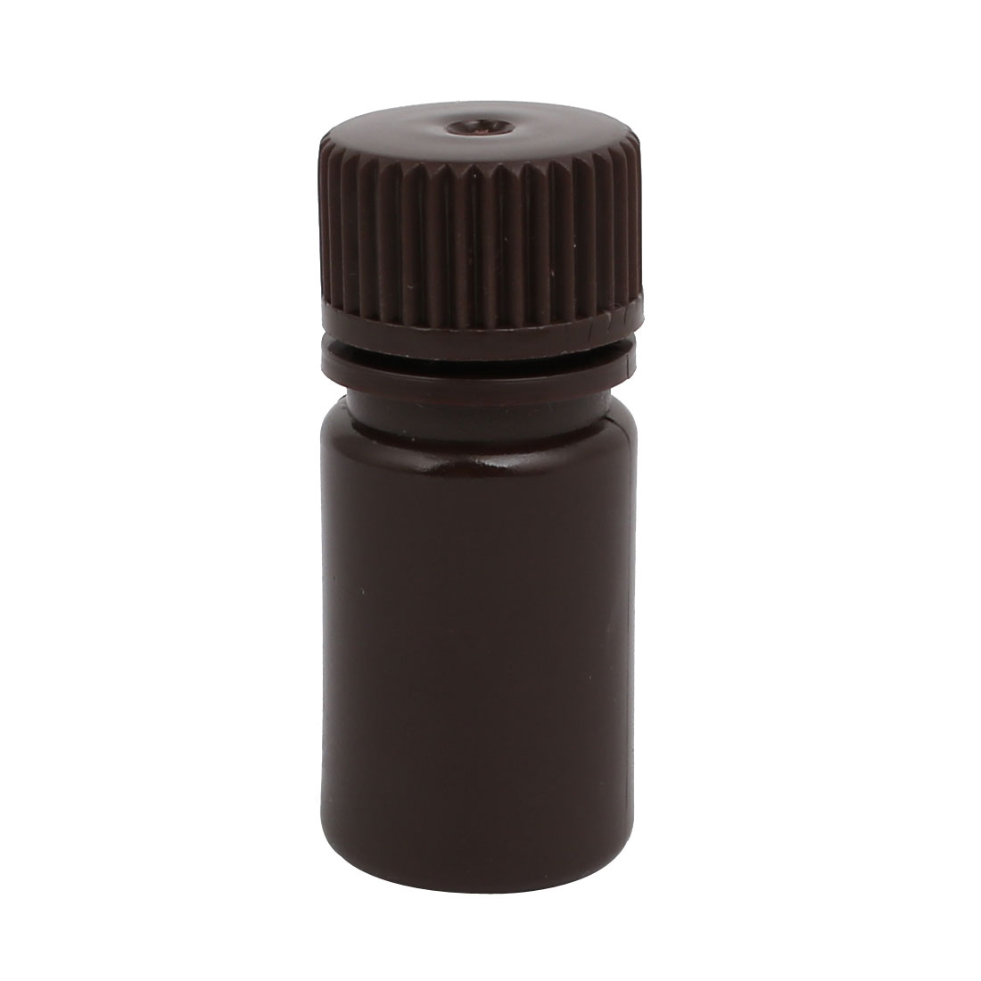 15ml 13mm Diameter HDPE Plastic Round Wide Mouth Laboratory Bottle Brown